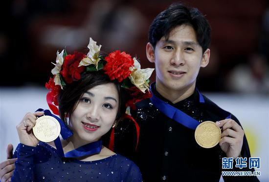 Sui/Han win pairs title at Four Continents Figure Skating Championships
