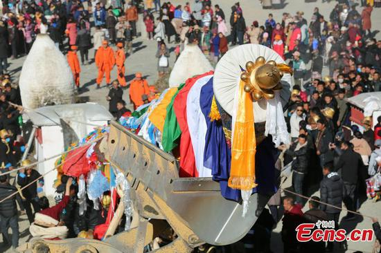 Tibetan New Year celebrations in Samye Monastery