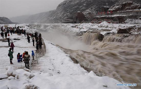 Snowfall hits many regions in southern part of Shanxi