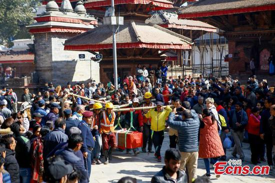 Nepal rebuilds quake-hit Kasthamandap temple