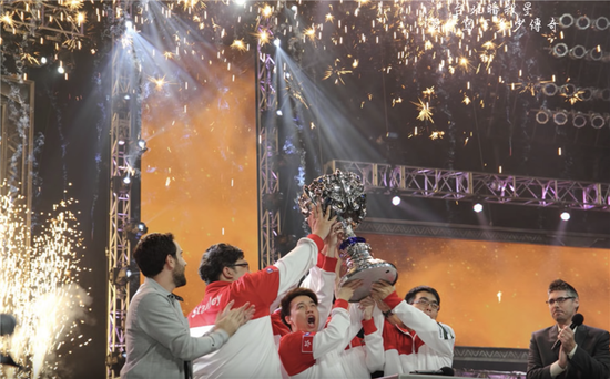Taipei Assassins celebrates winning the League of Legends Season 2 Championship in 2012. [Photo provided to China Daily]