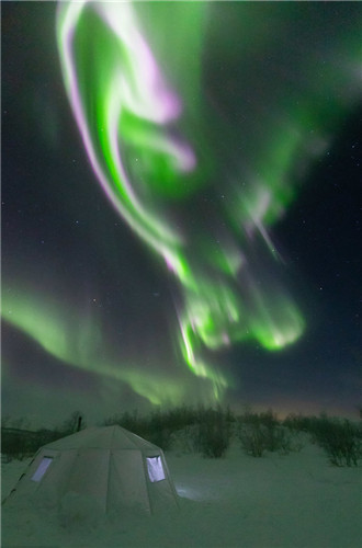 Stunning northern lights in Sweden