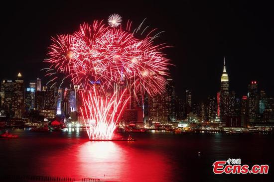 Fireworks light up New York sky to celebrate Chinese New Year
