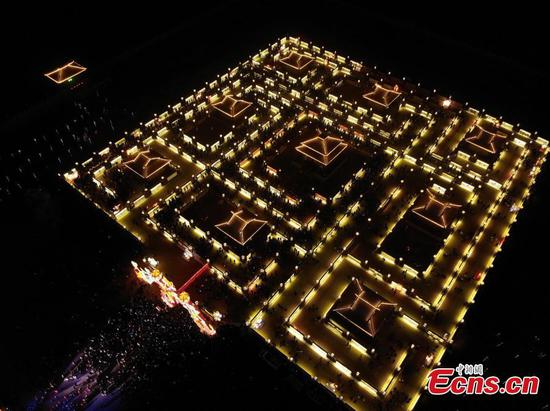 Winding Yellow River Lamp Array in NW China's Zhangye