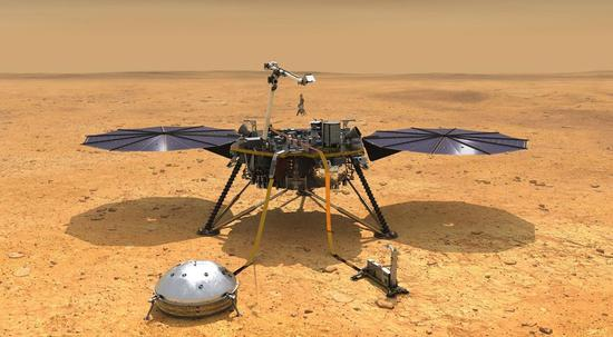 NASA's InSight lander to place heat flow probe on Mars