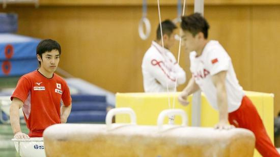 China-Japan gymnasts train together in Tokyo to gear up for 2020 Olympics