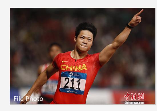 Su Bingtian claims victory at AIT International Grand Prix