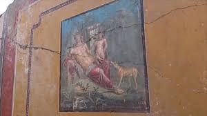 Narcissus fresco discovered at Italy's Pompeii