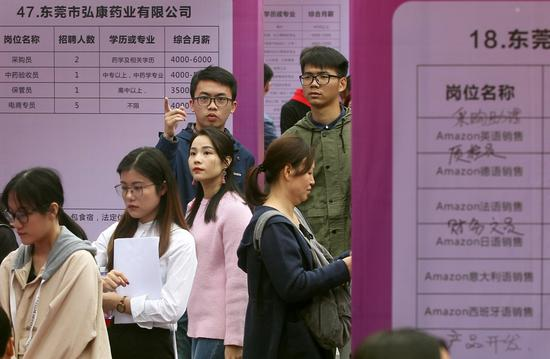 Lots of jobs on offer in Pearl River Delta region