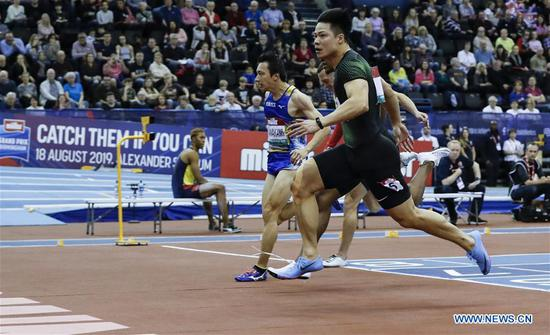 China's Su takes second straight indoor men's 60m win at Birmingham