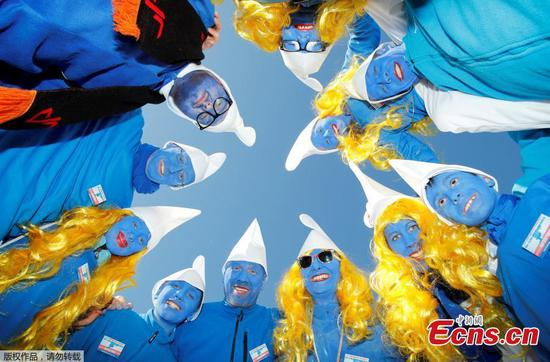 German town breaks world record for largest smurf meeting