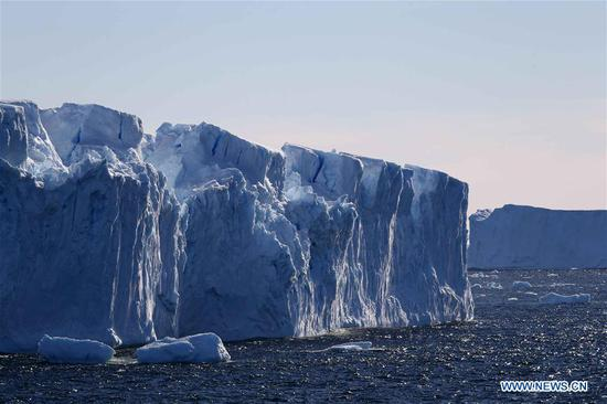 Scenery near Chinese research base Zhongshan Station in Antarctica