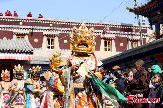 Religious dance performed at famed monastery