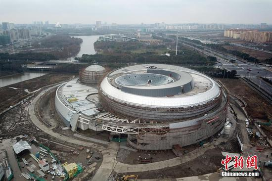 World's largest planetarium in Shanghai takes shape