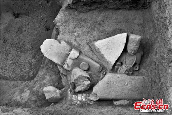 New findings at Buddha statue pit in Shanxi