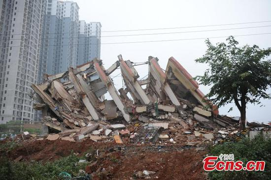 Holdout building demolished in Hainan after 3 years