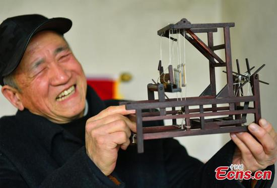 Villager creates miniature farming tools to show life of yesteryear