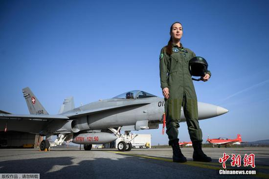 Switzerland's first female fighter pilot takes to the skies