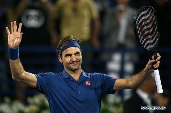 Roger Federer beats Philipp Kohlschreiber 2-1 at ATP Dubai Duty Free Tennis Championships 2019