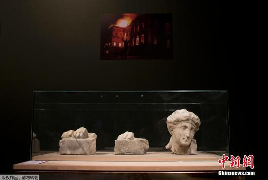 Artifacts rescued from Brazil's museum fire on display