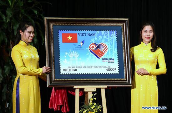 Special launching ceremony of stamp commemorating DPRK-USA summit held in Hanoi