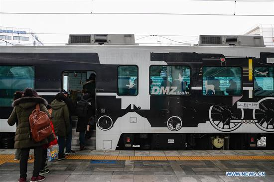 ROK's DMZ train runs with hope for peace on Korean Peninsula