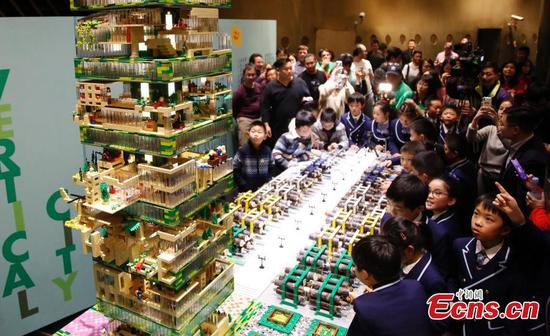 'Vertical City' model created at China's tallest building