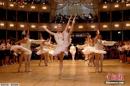 Dancers prepare for the 63rd Opera Ball in Vienna