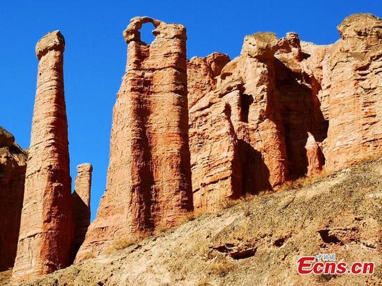 Spectacular Danxia landform in Gansu