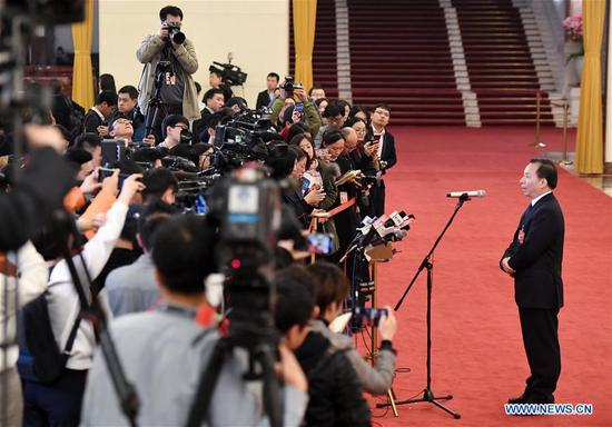 Ministers receive interview after opening meeting of 2nd session of 13th National Committee of CPPCC