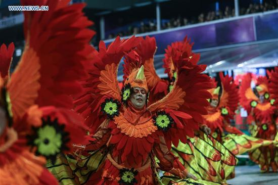 Carnival parade held in Sao Paulo, Brazil