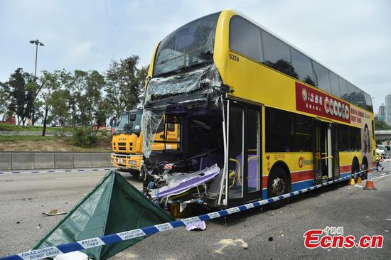 Two dead in car crash in Hong Kong