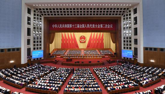 The second session of the 13th National People's Congress opens at the Great Hall of the People in Beijing, capital of China, March 5, 2019. (Xinhua/Zhang Ling)