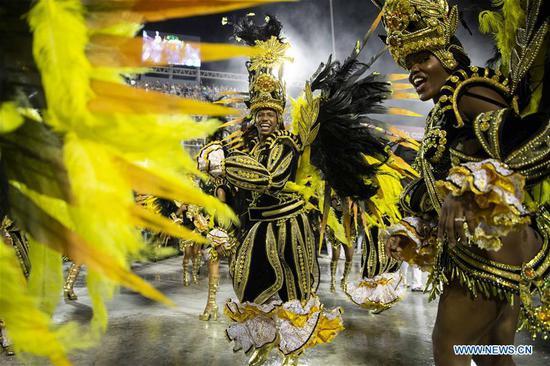巴西里约热内卢的狂欢节游行2019