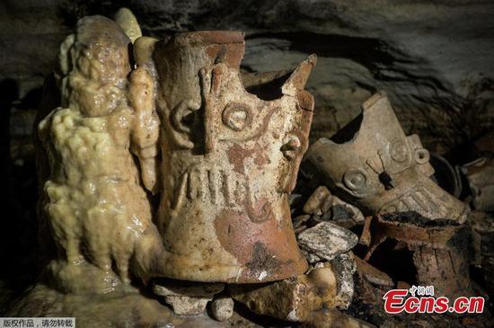 在奇琴伊察玛雅遗址下发现的文物洞穴