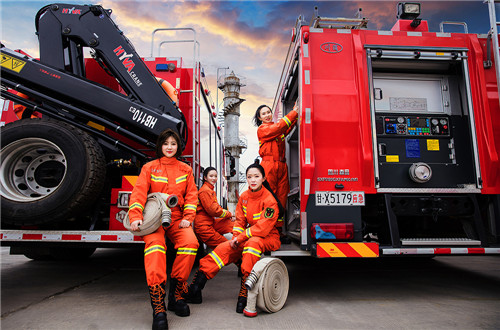 Female firefighters mark International Women's Day