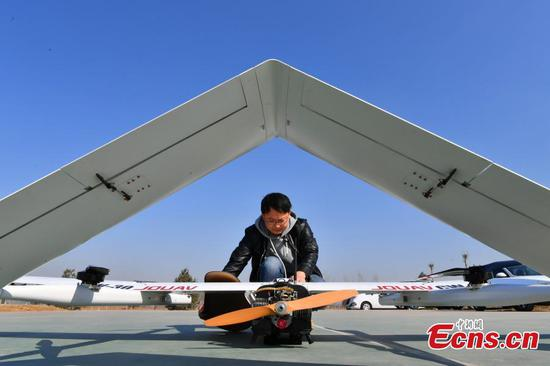 Large drone used to improve urban management in Shijiazhuang