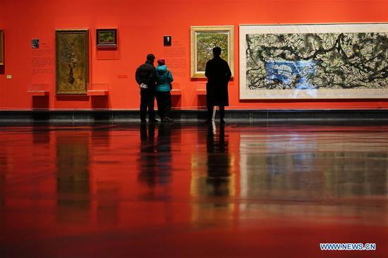 Art exhibition marking 70th anniv. of PRC's founding held in China's Suzhou