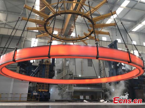 Record-setting ring forged for China's nuclear power unit