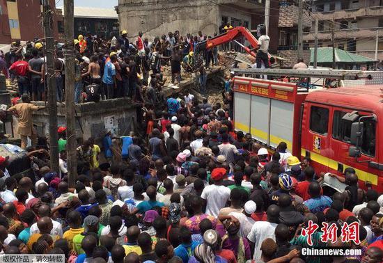 School building collapses in Nigeria's business hub