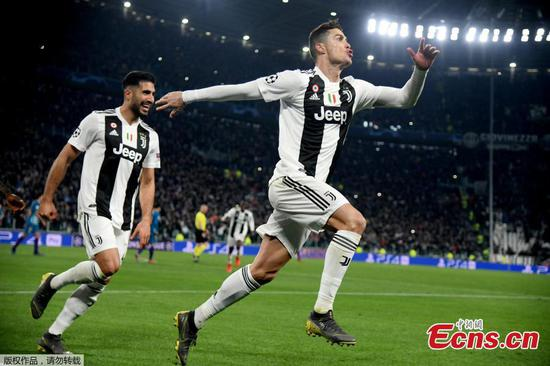 Ronaldo hat-trick sends Juventus past Atletico, into Champions League quarters