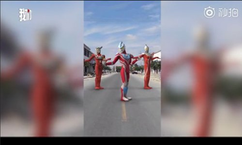 Dad's a superhero for making his kids an Ultraman video