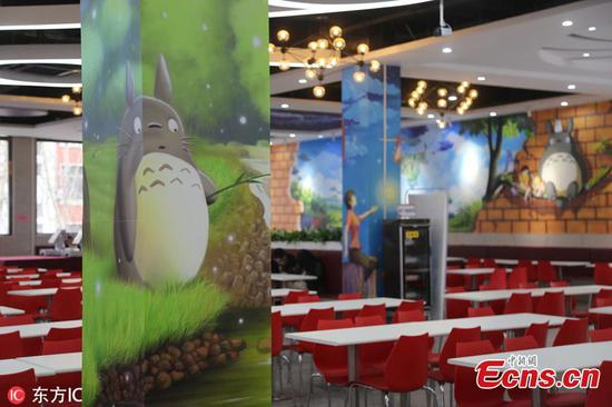 University opens cartoon-themed restaurant