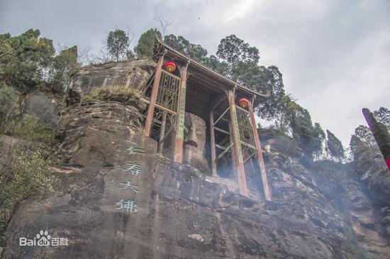 China's biggest half-Buddha statue closed for maintenance