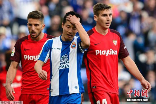 Wu Lei meets first loss as Sevilla beats Espanyol 1-0