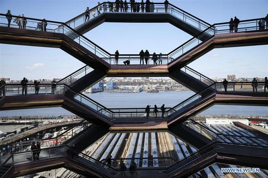 Landmark 'Vessel' on Hudson Yards becomes tourist attraction in NY