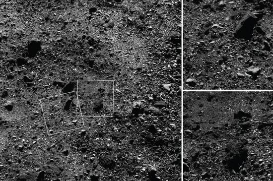 Bennu's rugged surface erupting plumes may change NASA's landing plans