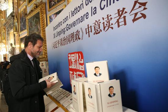 Xi's book on governance impresses Italian readers
