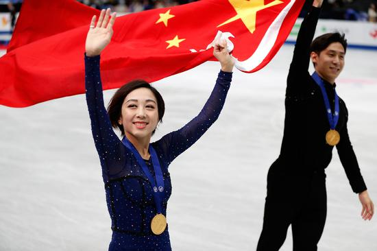 Sui Wenjing/Han Cong wins pairs title at Saitama Worlds