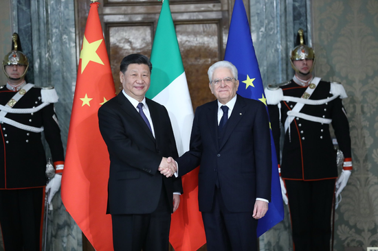 Chinese, Italian presidents agree to promote greater development of partnership